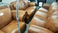 brown leather padded recliner chair Montréal, H1A 5T7