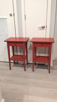 Red wooden end tables Bethesda, 20814