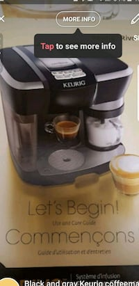 black and gray Keurig coffeemaker Hamilton, L8W 3J6