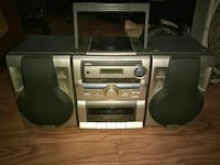 140$ Stereo system w/removable/attachable extended speakers CD/Radio/Tape/Etc. Columbia