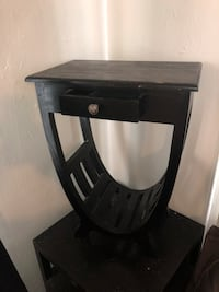 black and gray wooden side table Los Angeles, 90017