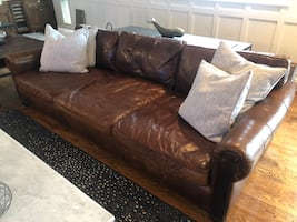 Restoration hardware couch and recliner