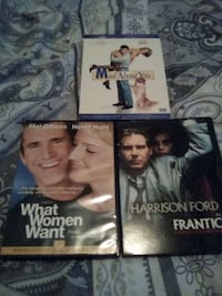 3 DVD movies mad about you series1 frantic what woman want