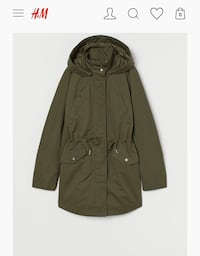 H&M Olive Green Anorak Woolwich, N0B