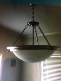 brown and white dome ceiling lamp Stafford, 77477