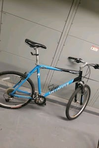 blue and black hard tail mountain bike Alexandria, 22315