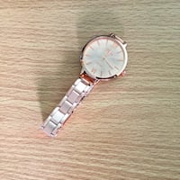 round silver-colored analog watch with link bracelet Côte-Saint-Luc, H4W 1A5