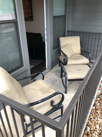 2 outdoor patio chairs and ottoman Austin, 78704