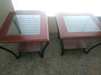 two brown wooden side tables Houston, 77021