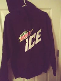 Brand New Ladies Mtn Dew Ice Large Pullover Hoodie Longs, 29568