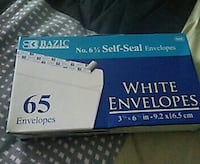 Bazic white envelopes box