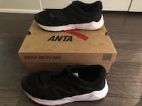 Anta 91 men's black shoes size 8 Selma, 78154