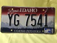 Old Idaho License Plate Meridian, 83646