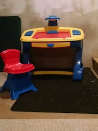 toddler's blue and red plastic table Milford, 08848