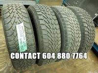 im selling four ___ 205/70R15 __ WINTER goodyear tires  Port Coquitlam