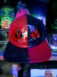 red and black fitted cap Waterloo, N2K 3N6