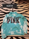 blue, black and white Pink by Victoria's Secret zip jacket