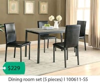 rectangular brown wooden table with four chairs dining set Anaheim, 92806