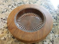 Wood and Glass Vintage Dish - pickle dish / candy  Airdrie, T4B 0Y3
