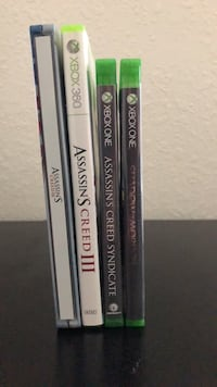 3 Xbox Games [Assassins Creed 3- Assassins Creed Syndicate- Shadow of Mordor] Norfolk, 23509