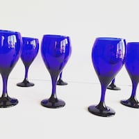 Vintage Cobalt Blue Wine Glasses (Set of 12) Mc Lean, 22101