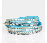 blue and white beaded bracelet Westfield, 27053
