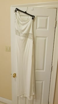 White Formal Sequin Dress/one shoulder Lake Charles, 70615