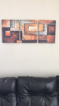 brown and black abstract painting Coral Gables, 33134