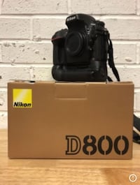black Nikon DSLR camera with box Silver Spring, 20910