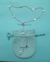 Tiffany & Co Sterling silver lariat hearts necklace Calgary, T2A