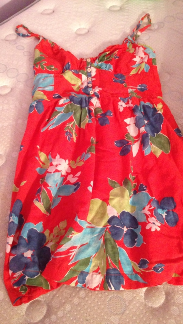 red and blue floral spaghetti strap dress 471bd20b-5586-465f-9077-be0de2aec8d9
