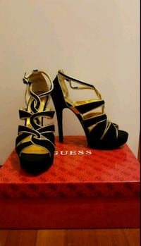 Guess Size 7.5 Black and Gold Heels, Brand New Vancouver, V5R