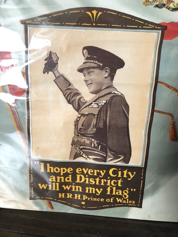 "Vintage 1919 Let Us Win Prince of Wales WAR POSTER 24x28"" 1"