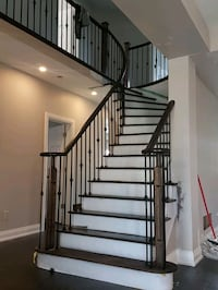 Interior Wood & Wrought Iron Railings Brampton
