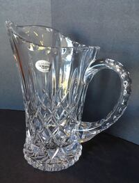 Gorham King Edward Water Pitcher Full Lead Crystal 8""