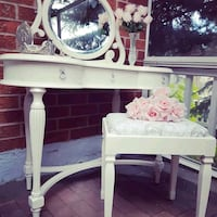 Bombay Makeup Vanity with Stool  Brampton
