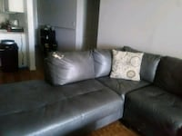 gray leather sectional sofa with throw pillows Tampa, 33611