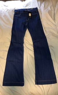 BLUE DENIM FLARE JEANS SIZE M FASHION NOVA  Toronto, M3K 1C5