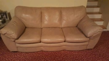 LEATHER SOFA-BED
