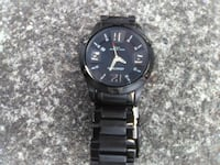 round black analog watch with link bracelet Eureka