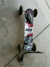 black and red mountainboard with break Reno, 89509