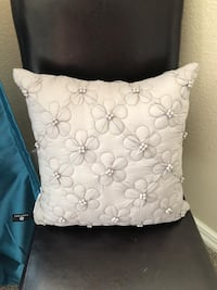 Quilted gray pillow