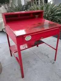 Metal shop table with drawer Glendale