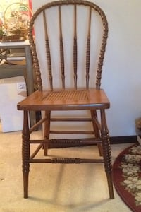 brown wooden chair with brown wooden frame New Berlin, 53151