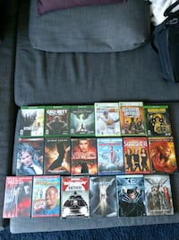 Dvd and xbox games for sale. See inside for prices 2306 mi