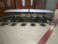 Mobile Stool Cafeteria Table w/ 12 Stools Norfolk, 23503