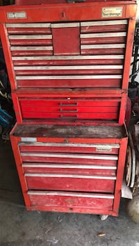 red and gray tool chest Cape Coral, 33909