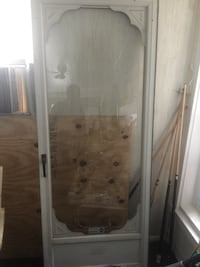 32x80 Aluminum Glass Storm Door