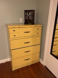 Distressed yellow tall dresser  Alexandria, 22306