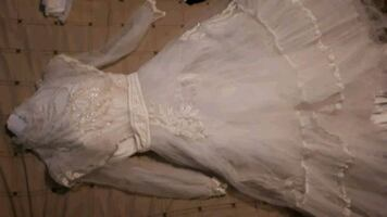 Vintage Cinderalla wedding gown.